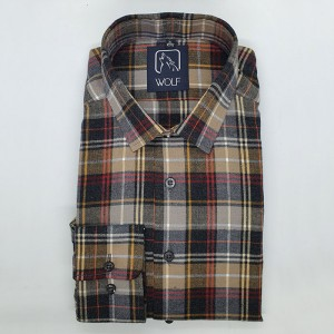 Parker Brown Grey Flanel