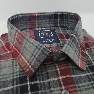 Parker Red Grey Flanel
